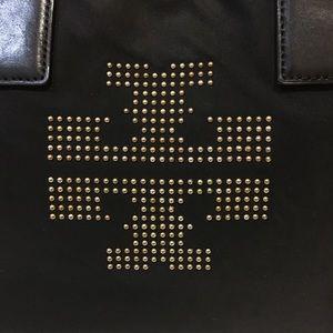 Tory Burch ELLA studded Nylon tote bag leather
